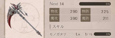 シノアリス武器レベル画像